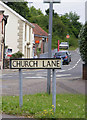 TG2006 : Church Lane sign by Adrian Cable