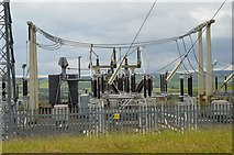 NT4915 : Electricity substation above Hawick by Jim Barton