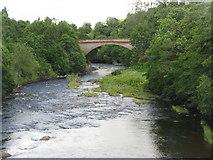 NS7354 : Avon Bridge from the Old Avon Bridge by M J Richardson