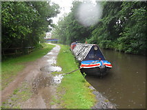 SJ9398 : Working Narrow Boat Hadar moored at Dukinfield. by Keith Lodge