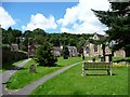SO4593 : Paths through the churchyard, Church Stretton by Christine Johnstone
