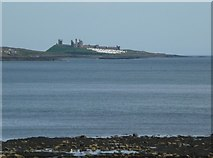 NU2521 : Dunstanburgh Castle prepares for Peace Camp by Russel Wills