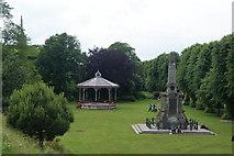 TR1457 : War memorial and bandstand in the Dane John Park by Bill Boaden