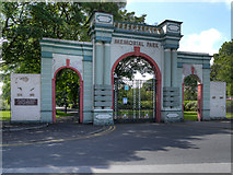 SD3347 : Fleetwood Memorial Park Gates by David Dixon