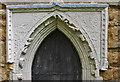 TF3593 : Detail of West Door, Yarburgh church by J.Hannan-Briggs