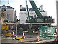 SX9373 : Hydraulic crane for Fore Street bridge works by Robin Stott