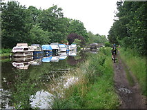 TQ0562 : Boats on Wey River Navigation by Oast House Archive