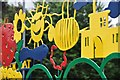 SS9412 : Tiverton : Heathcoat Primary School - Gate Decorations by Lewis Clarke