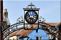 TG0738 : Millennium Commemorative Clock and archway - Larners and Bakers - Holt by Brian Chadwick