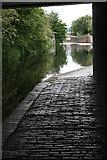 SP0787 : Canal from under Love Lane Bridge by Chris Allen
