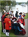 SY9287 : Wareham: town criers and the River Frome by Chris Downer
