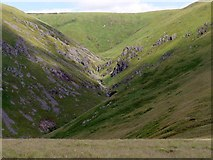 NT8820 : The Hen Hole from Pennine Way by Andrew Curtis