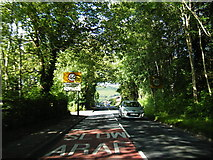SS9086 : A4064 at Llangeinor village boundary by Colin Pyle