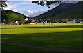NN0858 : Shinty pitch, Ballachulish by Ian Taylor