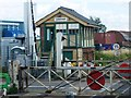 TL7286 : Lakenheath level crossing and signal box by Andy Sisley