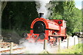 SJ9644 : Foxfield Railway - Bagnall No. 2 transferring between trains by Chris Allen