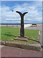NZ4060 : National Cycle Network milepost at Seaburn by Oliver Dixon