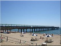 SZ1191 : Beach near Boscombe Pier by Paul Gillett