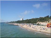 SZ1191 : Beaches West of Boscombe Pier by Paul Gillett
