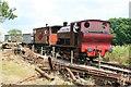 SJ9744 : Foxfield Railway - down the bank by Chris Allen