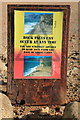 SY4988 : Rock Fall Warning Sign, Burton Bradstock by Rob Noble