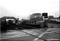 NT1067 : Midcalder Station and level crossing - 1978 by Andrew Richardson