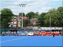 SE3321 : Blue hockey pitch, College Grove sports ground by Christine Johnstone
