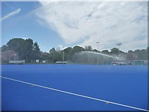 SE3321 : Watering the plastic, College Grove sports ground by Christine Johnstone