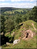 SK2479 : View from top of Bole Hill Quarry by Chris Morgan