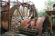 SS6694 : Hafod Works - drive to reversing rolling mill by Chris Allen
