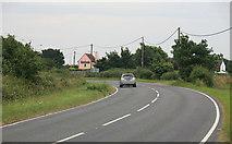 TM1227 : The B1035 looking towards Horsley Cross by roger geach