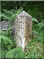 SD9828 : Guide stone on the old road from Heptonstall village to New Bridge by Humphrey Bolton