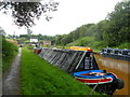 SJ8451 : Working Narrow Boat Hadar moored outside the south portal of Harecastle tunnel. by Keith Lodge