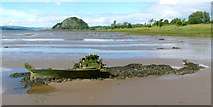 NS4074 : The shore at Dumbarton East by Lairich Rig