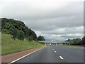 NY5324 : A6 bridge over northbound M6 by John Firth