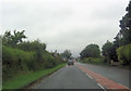 NY3868 : A6071 junction ahead from A7 at Longtown by John Firth