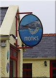 M2208 : Monks Bar & Restaurant (2) - sign, Old Pier, Ballyvaughan, Co. Clare by P L Chadwick