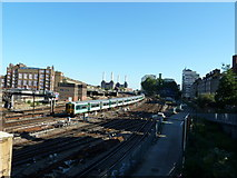 TQ2878 : Train approaching Victoria Station from the south by Alexander P Kapp