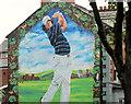 J3472 : Rory McIlroy mural, Belfast by Albert Bridge