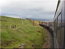 NN4259 : West Highland Line north of Rannoch by Gareth James