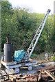 SJ6903 : Blists Hill Victorian Town - steam crane by Chris Allen