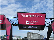 TQ3884 : Stratford Gate, Olympic Park by Alex McGregor