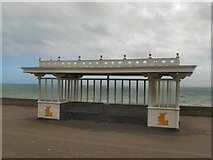 TQ2704 : Shelter on Hove Seafront by Paul Gillett