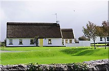 M2208 : Irish Cottages (close-up), Ballyvaughan, Co. Clare by P L Chadwick