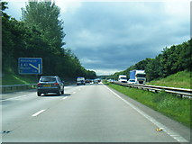 SJ8106 : M54 approaching Junction 3 westbound by Colin Pyle