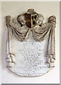 SJ1357 : St Meugan's church, Llanrhydd - monument to John Thelwall by Mike Searle