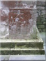 SZ4996 : Cut mark with bolt on St Mary's church by Brian Westlake