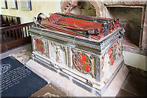 SJ5608 : St Andrew's church, Wroxeter - tomb-chest of Sir Thomas Bromley by Mike Searle