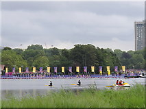 TQ2780 : Olympics women's triathlon Hyde Park - start by David Hawgood