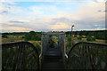 SK4743 : Graffiti-covered bridge by David Lally